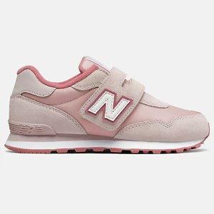 低至5折 £31.5收草莓粉魔术贴New Balance 大童款热促  复古经典球鞋  少女福音 出街必备