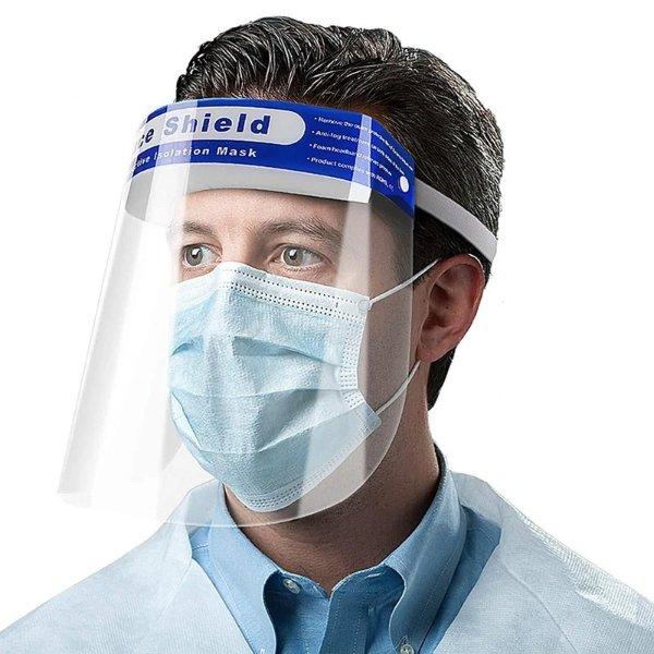 透明全脸防护面罩 10个