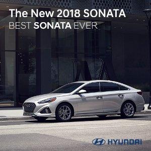 72个月0% APR+$1000现金红利2018 Hyundai Sonata季末限时促销 家人心爱的年终礼物
