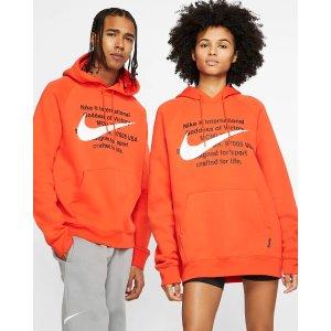 Nike王一博同款Swoosh 情侣卫衣 橙色