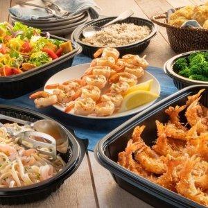 限时无门槛免送餐费Red Lobster 推出多款家庭装、情人款套餐,$26.99起