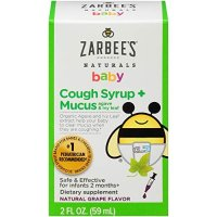 Zarbee's Naturals 婴儿止咳糖浆, 2盎司, 2个月+宝宝适用