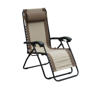 Living Accents Black Steel Relaxer Chair