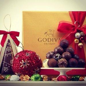Godiva 巧克力圣诞星饰等精品节日礼盒热卖