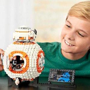 $83.99包邮 原价$129.99史低价:乐高星战VIII BB-8机器人 1106片