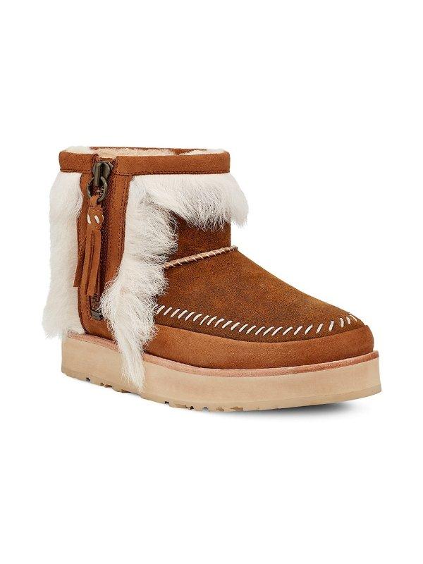 毛毛雪地靴