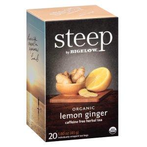 $14.37 每包$0.12steep by Bigelow 有机柠檬姜茶 120包