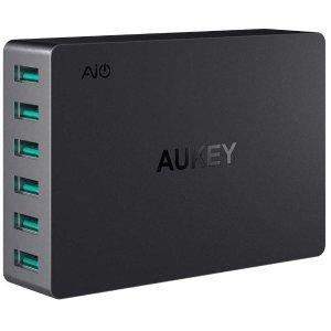 Aukey 60W 6口 USB 桌面充电站