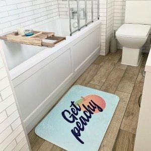 无门槛7.5折 款式超级多折扣升级:IWOOT 浴室吸水垫热卖 瞬间擦干脚 防滑又卫生