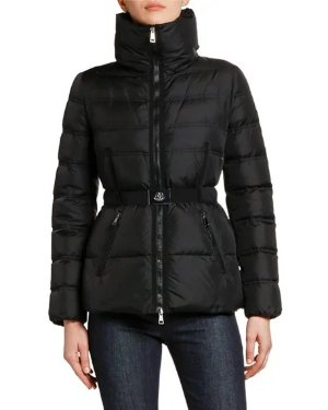 Neiman Marcus Alouette Belted Puffer Jacket