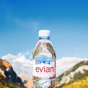 $13 evian Natural Spring Water One Case of 12 Individual 1 Liter