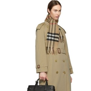 Low Pricing Burberry Cashmere Scarf@SSENSE