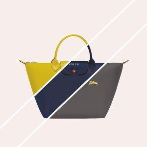 低至$69+新人免邮Longchamp 实用美包热卖