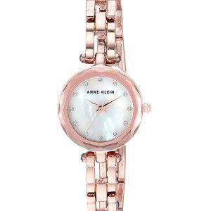 $32.68 (原价$65)Anne Klein 高颜值施华洛世奇水晶珍珠母贝时装女表