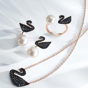 5折起 黑天鹅珍珠戒$69 免邮补货:Swarovski 折扣区特卖 钥匙项链$62 水晶戒指$44