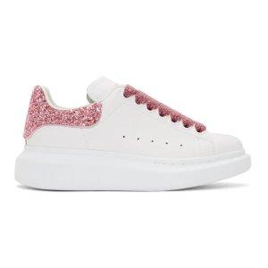 Alexander McQueen定价$690水晶粉尾运动鞋