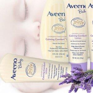 $5.97(原价$7.99)Aveeno Baby 婴儿天然燕麦薰衣草香草镇静舒缓润肤乳 227g
