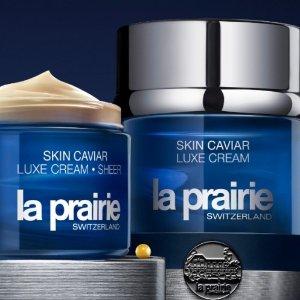 最高送$700礼卡+ 送4重豪礼最后一天:La Prairie 护肤美妆产品满额送礼卡促销 入抗衰老鱼子酱系列