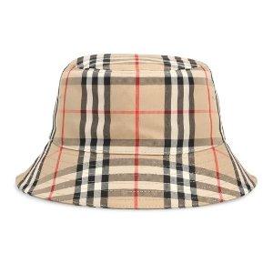 BurberryPrinted格纹渔夫帽
