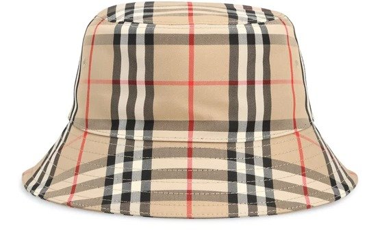Vintage check 渔夫帽