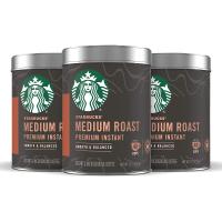 星巴克速溶咖啡 100% Arabica 三罐装 可冲120杯
