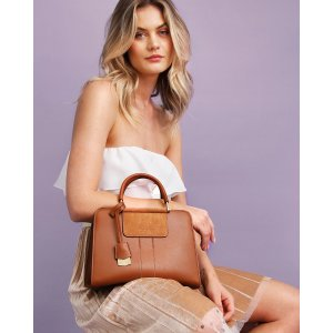 Almost Famous Leather Satchel - Brown