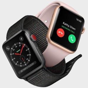 $169起 双色可选Apple Watch Series 3 GPS版 智能手表, 健康追踪首选