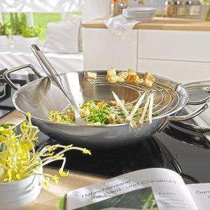 不锈钢炒锅仅€56 原价€139Zwilling 闪促专场 收锅具、餐具、刀具、竹质砧板等 一站购齐