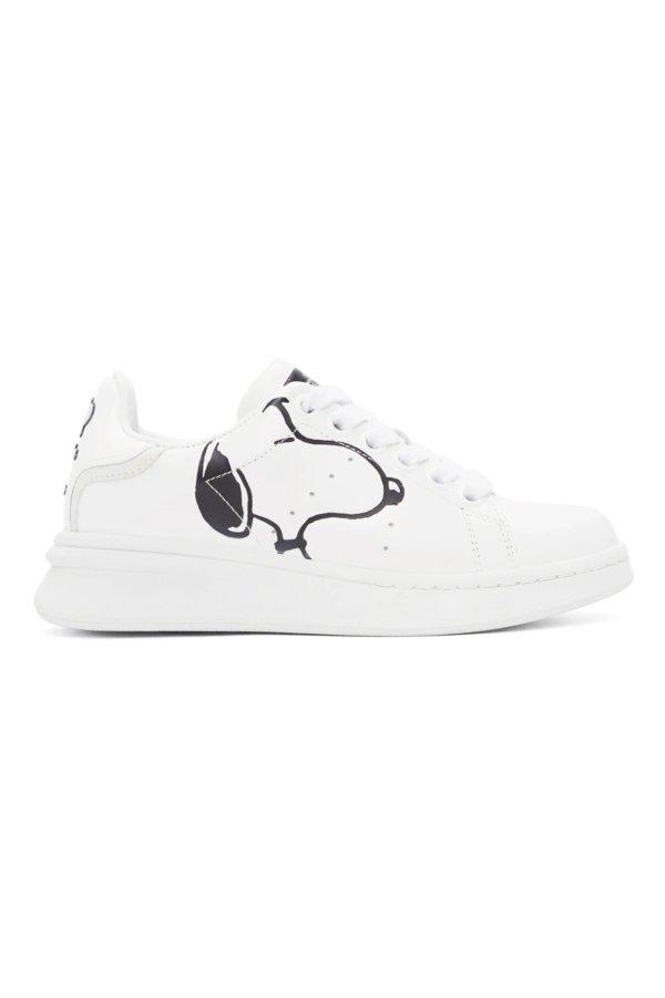 史努比联名小白鞋
