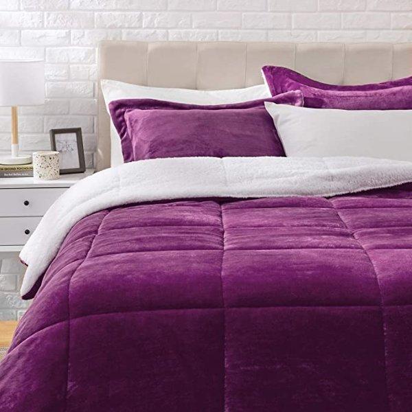 紫色床上3件套 Full Size 或 Queen Size
