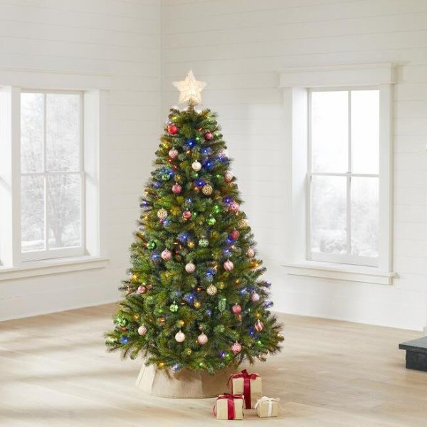 6.5 ft 预装灯串圣诞树