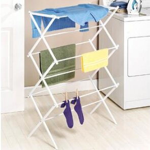 12 Whitmor 6023 741 Folding Clothes Drying Rack White Rust Proof Guarantee