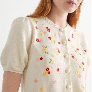新人9折 草莓扣、蜜蜂扣£49起& Other Stories 初秋开衫、针织衫专场 温柔法风、小香风都有