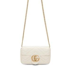 £675收封面同款 白色全网独家有货Gucci Marmont Supermini 白色官网无货这里有