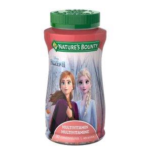 $9.11 (原价$15.99)史低价:冰雪奇缘 X Nature's Bounty 儿童综合营养软糖 180粒
