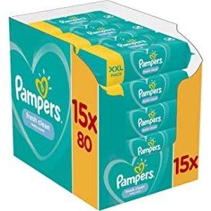 Pampers 清新湿巾15包共1200抽