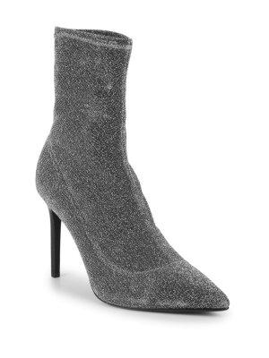 Pure Navy Tori Stiletto Sock Booties