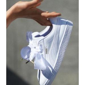 Puma年度热卖 减$20后丝绸蝴蝶结小白鞋