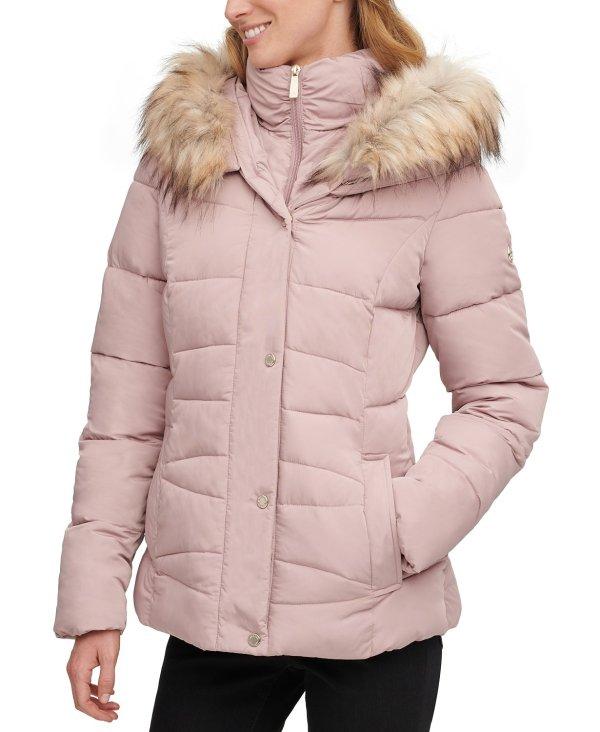 毛领保暖外套