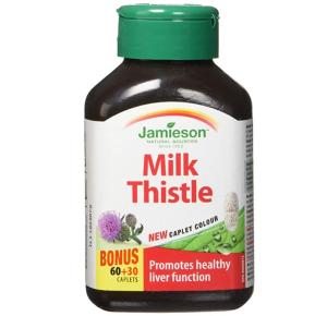 $11.39(原价$19.78)养肝护肝!健美生Jamieson Milk Thistle 水飞蓟护肝胶囊 90粒