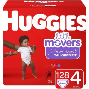 $26.58(原价$33.72)Huggies 纸尿裤 低敏柔软贴合屁屁 4号128片