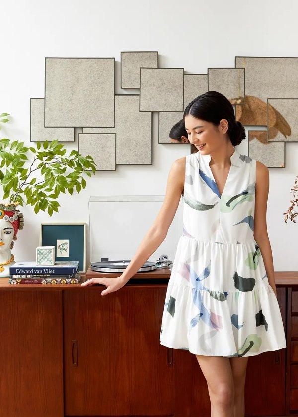 Skyvia印花裙