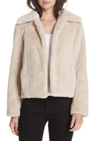 Theory | Faux Fur Jacket | Nordstrom Rack