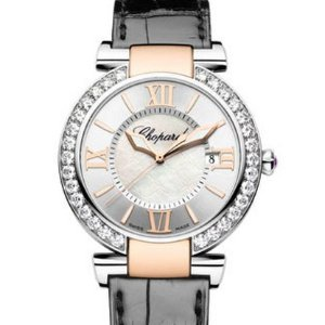64% OffChopard Diamond 18k Gold & Steel Automatic Ladies Watch