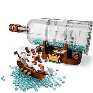 $95.99 (原价$119.99)LEGO乐高 瓶中船 21313 颜值高值得收藏