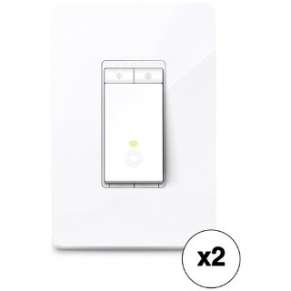 TP-Link HS220 Smart Wi-Fi Light Switch with Dimmer 2-Pack