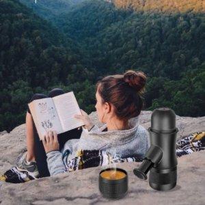 现价 £27(原价£49.99)Homgeek 便携浓缩咖啡器