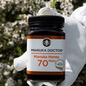 低至2折 €5入30MGO蜂蜜250g补货:Manuka Doctor 蜂蜜 又双叒叕热促 下单刻不容缓
