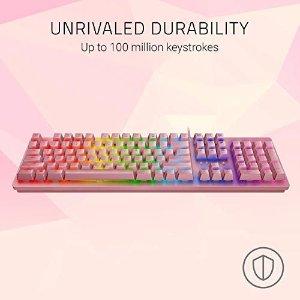 Razer粉色RGB键盘