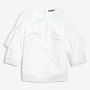 J.CrewTiered bell-sleeve top : FactoryWomen Blouses & Tops | Factory